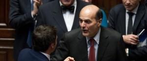 Camera dei Deputati. Pier Luigi Bersani torna in aula dopo la lunga malattia